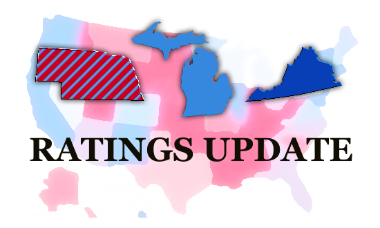 Presidential Race Ratings Update: Michigan, Nebraska's Second Congressional District, and Virginia